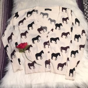 Size small horse cardigan